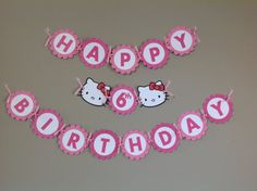 Hello Kitty Birthday Banner Package by JuliannasMommy12 on Etsy, $34.00