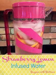 Strawberry Lemon Infused Water Recipe- Perfect for those wanting to eat healthier!