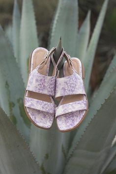 Floral-printed leather flats let you tiptoe through the, er, succulents all day long. #etsyfinds