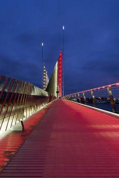 speirs + major and wilkinson eyre: twin sails bridge Exterior Lighting, Outdoor Lighting, Bridge Engineering, Dorset England, My Road Trip, Weekends Away, Landscape Lighting, Landscape Art, Light Architecture