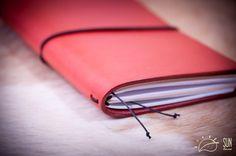 "Midori Traveler's Notebook ""Fiery passion"" free Personalized Leather Journal- FauxDori - refillable planner - Fauxdori - Faux-dori"