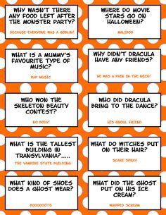 Free Printable Halloween Jokes For Kids - Halloween Lunch Box Jokes