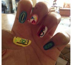 Teen beach movie nails!!! I LOVE that movie!!!