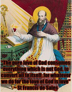 St Francis de Sales on love www.religiousbookshelf.org