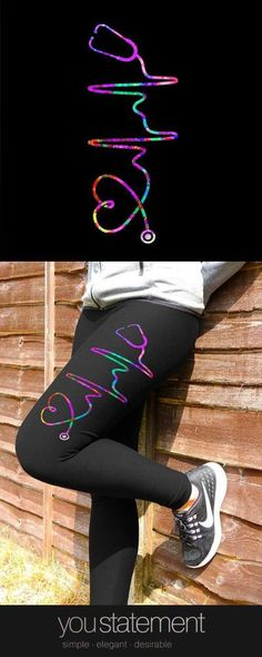 Fall in love with these MUST-HAVE Nurse Leggings perfect for all kinds of other fitness activities too! Check out Nurse leggings here or get them all! Lpn Nursing, Nursing Profession, Nursing Assistant, Pediatric Registered Nurse, Medical Humor, Funny Medical, Nursing Accessories, Nurse Love, Mommy Workout