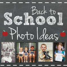 Shared at the Thank Goodness It's Thursday link party: Back to School Photo Ideas from Krafty Owl