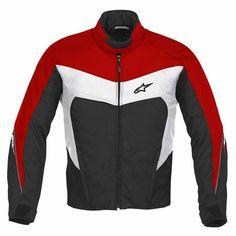 Jaqueta Alpinestars Argon Preta/Vermelha - OnMoto! Acessórios e Equipamentos para Motociclistas