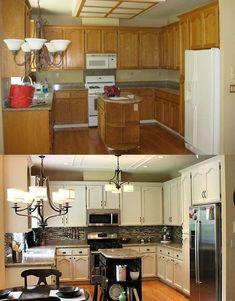 mutfak yenileme ornekleri oncesi ve sonrasi resimler boyama kaplama ve dolap yenileme (2)