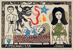 """Image typical of Brazilian """"literatura de cordel"""". Low budget publishing - pamphlet-like books with amazing woodcut print covers."""