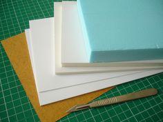 stencil card, Palight Pvc, Kapa-line foamboard, styrofoam sheet