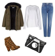 """""""Parka with leopard boots"""" by riseandriseandrise on Polyvore featuring MANGO, 10 Crosby Derek Lam, Raye, Karl Lagerfeld and Acne Studios"""