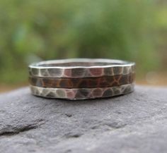 mens wedding band or everyday band  oxidized sterling by bddesigns, $96.00