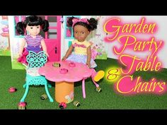 American Girl Wellie Wishers Garden Party Table & Chairs ~ Review - YouTube