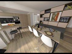 Après avoir ré-imaginé le #salon de ce rez-de-chaussée, place à la partie salle à manger que l'on souhaite conviviale et fonctionnelle