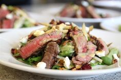 Beef Tenderloin, Cranberry and Pear Salad - looks crazy good! #SaladSocial @Amy Locurto