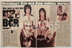 BAY CITY ROLLERS - German 2 pages article 1976, clippings, no poster