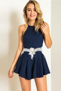 Cheap fashion jumpsuit, Buy Quality jumpsuit fashion directly from China short jumpsuit Suppliers: Women Sexy Off Shoulder Spaghetti Strap Backless Short Jumpsuit New Fashion Vestido Dress, Dress Skirt, Dress Up, Cute Dresses, Beautiful Dresses, Short Dresses, Summer Outfits, Cute Outfits, Party Outfits