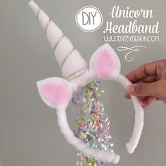 Unicorn hat with tail