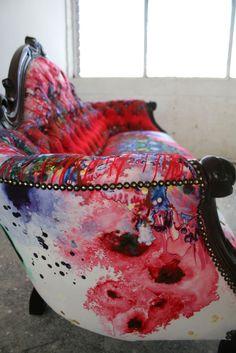 thequietstudio:  Timorous Beasties Fabric - Thunder Blotch