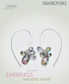 DIY Free Swarovski Crystal jewelry design and instructions Crystal Paradise Shine earrings - RainbowsofLight.com