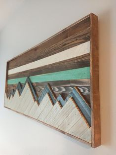 Barn Wood Decor, Reclaimed Wood Wall Art, Wooden Wall Art, Diy Wall Art, Large Wall Art, Wood Art, Small Wood Projects, Scrap Wood Projects, Mountain Decor