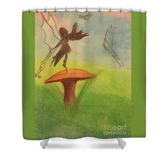 Butterfly Fairy Shower Curtain