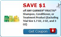 SAVE $1.00 off ANY GARNIER® FRUCTIS® Shampoo, Conditioner, or Treatment Product (Excluding Trial Size 1.7 OZ, 2 OZ, and 3 OZ) : #Uncategorized Check it out here!!
