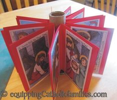 Stations of the cross carousel for Lent table centerpiece