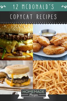12 McDonald's Copycat Recipes You Need To Try Right Now - 12 McDonald's Copycat Recipes You Need Right Now Mcdonalds Recipes, Burger Recipes, Beef Recipes, Cooking Recipes, Healthy Recipes, Cooking Ribs, Savoury Recipes, Cooking Games, Easy Recipes