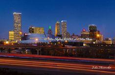 New Tulsa skyline Fine Art by John Shoemaker Seattle Skyline, New York Skyline, Tulsa Oklahoma, Decor Interior Design, Past, Pictures, Photos, Canvas Prints, Fine Art