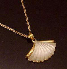 Vintage  Avon Pendant Necklace  fanshaped by VintageTreasures4U, $28.00