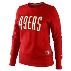 Nike San Francisco 49ers Ladies Tailgater Fleece Sweatshirt - Scarlet