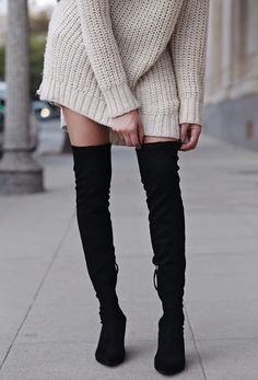 Chic and Silk: STREET STYLE: Thigh High Boots! 50 Best Outfits
