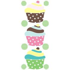 Cupcake kitchen decor hanging towels pot kitchen for Cupcake themed kitchen ideas
