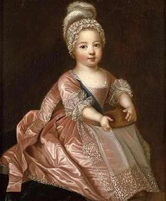 history-of-fashion:  ab. 1712 Pierre Gobert - Portrait of Louis XV of France as a child