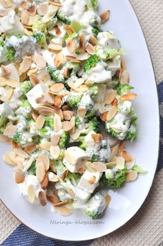 brokoliu - fetos salotos Finger Foods, Pasta Salad, Feta, Potato Salad, Salads, Potatoes, Cheese, Ethnic Recipes, Recipe Ideas