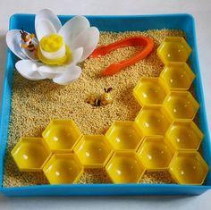 СЕНСОРНАЯ КОРОБКА СВОИМИ РУКАМИ. С наступлением весны тема букашек стала очень актуальной. Сегодня мы предлагаем вам сделать вместе с детьми сенсорную коробку Пчелиный улей