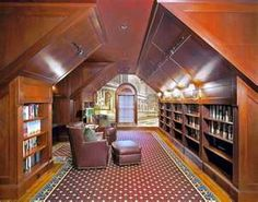 Attic #Library....I would so do this if I had an attic like this!!!!!!!!!!!