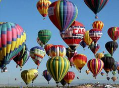 it was an amazing experience to walk amidst 800 hot air balloons being filled and lifting off - Albuquerque Balloon Fiesta, New Mexico