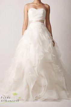 Cindy/wedding gown/silk/custom by pandaandshamrock on Etsy, $660.00