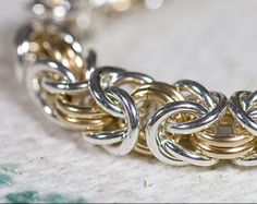 14K Gold Fill Byzantine Love Knots Chainmaille by rainestudios