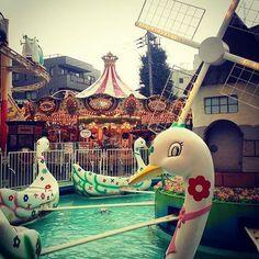 The oldest theme park in Japan, Hanayashiki Amusement Park, Asakusa, Tokyo