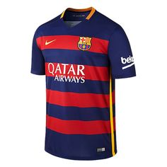 Buy FC Barcelona soccer gear at WeGotSoccer. All jerseys are officially licensed Nike products. Shop for Messi, Suarez, Iniesta, and other great FC Barcelona players. Barcelona Futbol Club, Fc Barcelona Logo, Camisa Barcelona, Barcelona 2015, Barcelona Jerseys, Barcelona Soccer, Soccer Gear, Soccer Kits, Youth Soccer