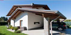 Villa tetto a doppia falda incrociata 3