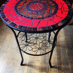 Stone Mosaic, Mosaic Art, Mosaic Glass, Stained Glass, Mosiac Table Top, Mosaic Tables, Round Table Top, Round Top, Bottle Cap Table