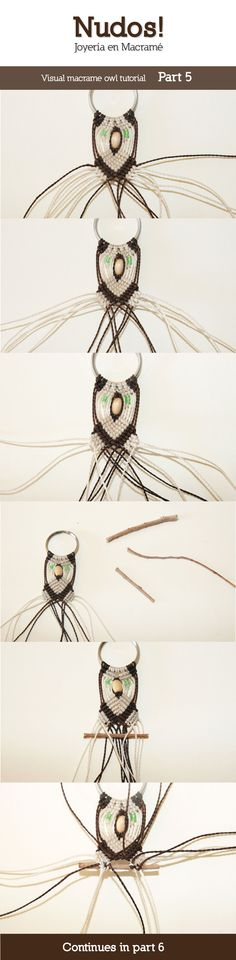 Macrame Owl Tutorial - Part 5 by enenauta on DeviantArt