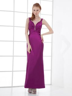 Elastic Woven Satin Sweetheart Straps Ankle Length Beading Mermaid Backless Prom Dress
