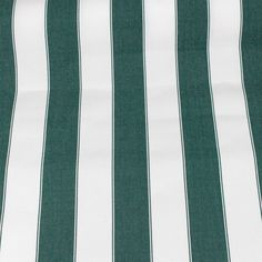 Striped Canvas Fabric Upholstery Decor Crafts Green White Home Vtg 3 Yards #Unbranded