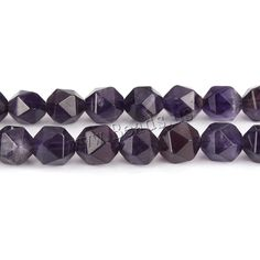 Natural Amethyst Beads, February Birthstone & faceted, 8mm, Hole:Approx 1mm