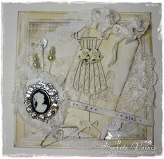 Live & Love Crafts' Inspiration and Challenge Blog: Shabby Mannequin with some bling